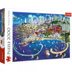 Puzzle Trefl, Golful San Francisco, 2000 piese