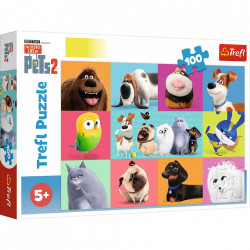 Puzzle Trefl - The Secret Life of Pets 2, 100 piese