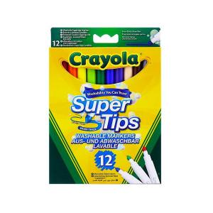 Set 12 Markere Lavabile Crayola-Super Tips,Multicolor