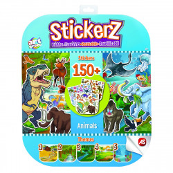 SET 150 DE AUTOCOLANTE STICKERZ REUTILIZABILE CU ANIMALE