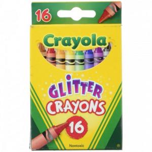 Set 16 creioane Cerate Crayola cu Glitter,multicolor