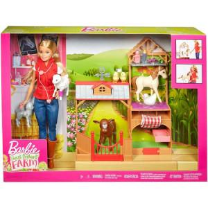 Set de joaca Barbie, la ferma cu medic veterinar