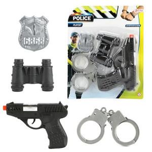 Set de politie, Toi-Toys, 4 accesorii