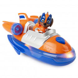 Set figurina cu vehicul Paw Patrol - Mighty Pups Super Paws, Zuma