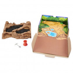 Set Kinetic Sand - Situl arheologic cu dinozauri, 454g