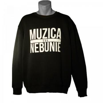 """Bluza Muzica sau Nebunie """"black"""""""