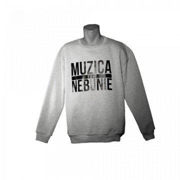 "Bluza Muzica sau Nebunie ""grey"""