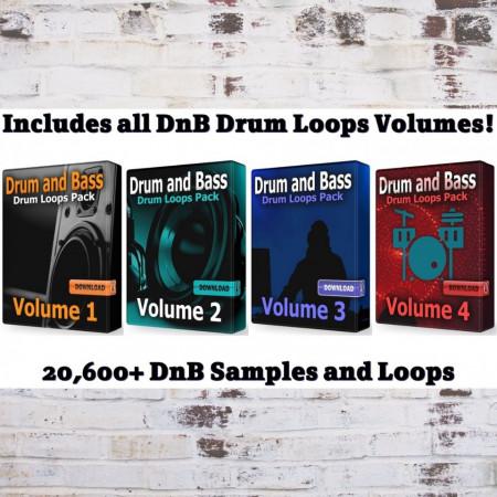 DnB COMPLETE Mega Drums Bundle Wav Samples