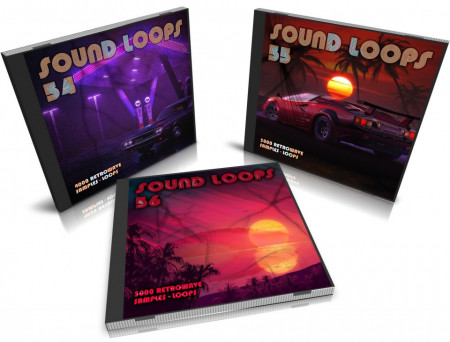 Retro Wave Bundle: Sound Loops 54, 55 and 56 Collection