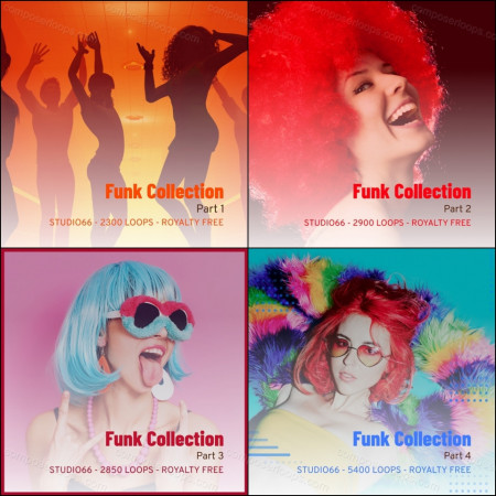 Funk Ultimate Groove Collection ALL Funk 1-4 Parts Included