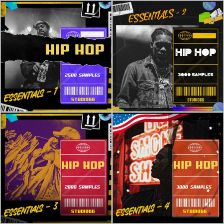 Hip Hop Essentials Bundle 1-4 Packs Included
