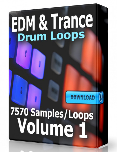 EDM and Trance Drum Loops Collection Volume 1 Download