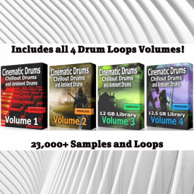 Cinematic COMPLETE Mega Drum Loops Bundle Wav Samples