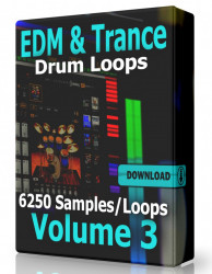 EDM and Trance Drum Loops Collection Volume 3 Download
