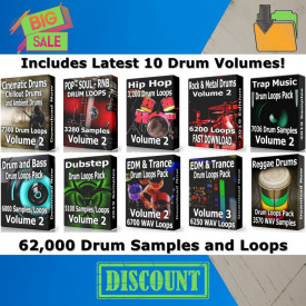 Drum Loops Mega Pack 2 Download 62000 Drum Samples and Drum Loops