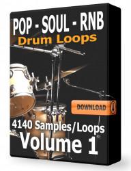 Pop Soul and RnB Drum Loops Volume 1 Download