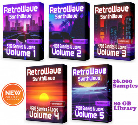 RetroWave COMPLETE Super Pack - 5 Volumes Synthwave Bundle