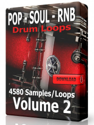 Pop Soul and RnB Drum Loops Volume 2 Download
