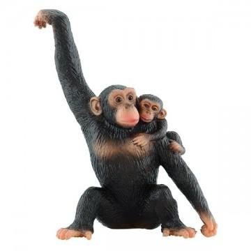Figurina Cimpanzeu cu pui