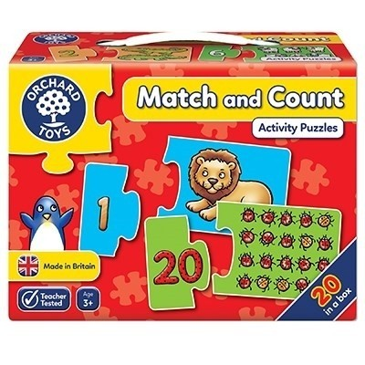 Puzzle Potriveste si numara de la 1 la 20