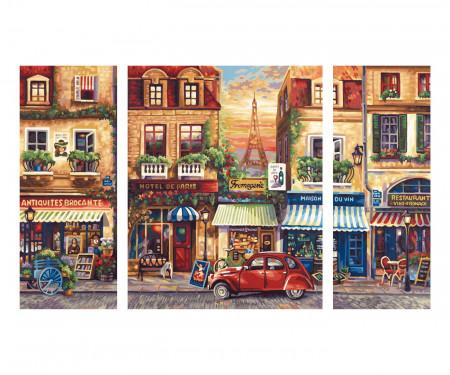 KIT PICTURA PE NUMERE SCHIPPER NOSTALGICUL PARIS, 3 TABLOURI