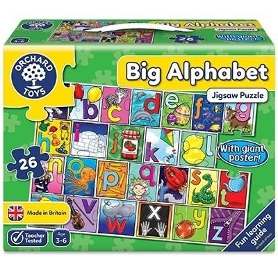 Puzzle de podea in limba engleza Invata alfabetul, 26 piese