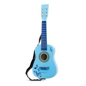 Chitara de lemn albastra