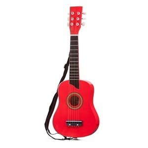 Chitara Luxe de lemn rosie