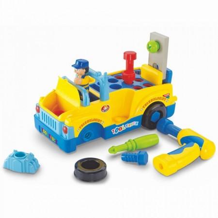 Camionul cu unelte al micului mecanic, Hola Toys