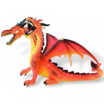 Figurina dragon portocaliu cu 2 capete