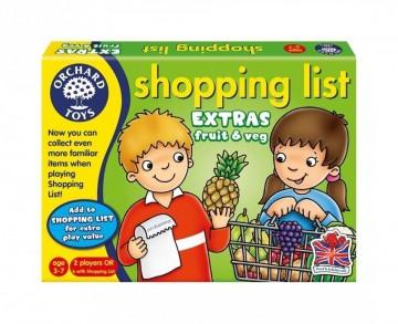 Joc educativ in limba engleza Lista de cumparaturi Fructe si legume