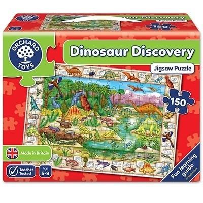 Puzzle in limba engleza Lumea dinozaurilor, 150 piese