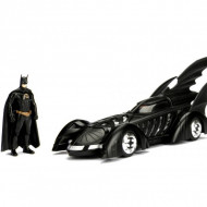Masinuta Metalica Batman 1995 Batmobile Cu Figurina Inclusa, 20 Cm