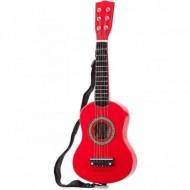 Chitara de lemn rosie