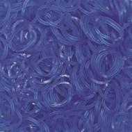 Elastice Jelly albastru, Rainbow Loom, 600 buc