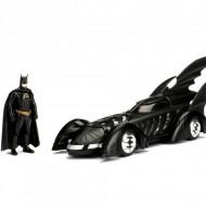 Masinuta Metalica Batman 1995 Batmobile Cu Figurina Inclusa, 20 Cm