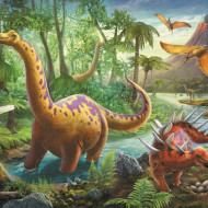 Puzzle Trefl Migratia Dinozaurilor, 60 piese