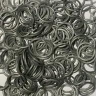 Elastice argintiu metalic, Rainbow Loom, 300 buc