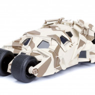 Masinuta Metalica Batman Batmobile Camuflaj Cu Figurina Inclusa, 20 Cm