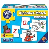 Puzzle educativ in limba engleza, alfabet