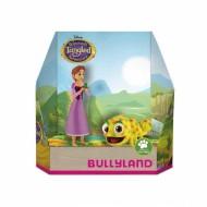 Set 2 figurine Disney Tangled, Rapunzel cu parul scurt si Pascal