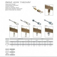 Carlig pentru leagan, Tip D+, 140 mm