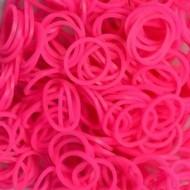 Elastice neon roz, Rainbow Loom, 300 buc