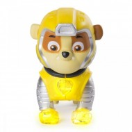 Figurina Cu Lumini Patrula Catelusilor Mighty Pups, Supererou, Rubble