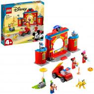 LEGO MICKEY AND FRIENDS STATIA SI CAMIONUL DE POMPIERI ALE LUI MICKEY SI PRIETENILOR SAI 10776