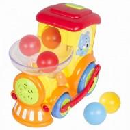 Locomotiva cu bile cu sunete si lumini, Hola Toys