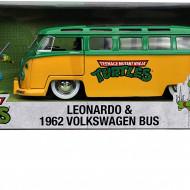 MASINA METALICA VW 1962 TESTOASELE NINJA LEONARDO SCARA 1 LA 24