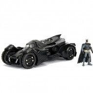 Masinuta Metalica Batman Batmobile Arkham Knight Cu Figurina Inclusa, 20 Cm