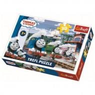 Puzzle Trefl Trenuletul Thomas si Prietenii, 30 piese