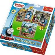 Puzzle Trefl Thomas Intra In Actiune, 3 in 1, 20 / 36 / 50 piese